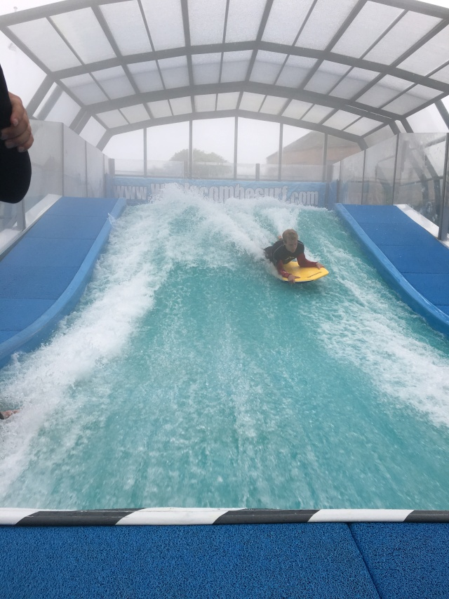 Riding on the Woolacombe Wave
