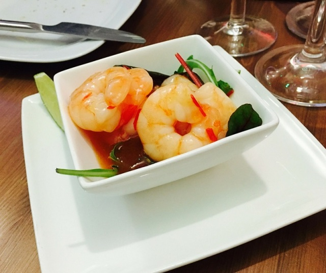 Sweet chilli king prawns