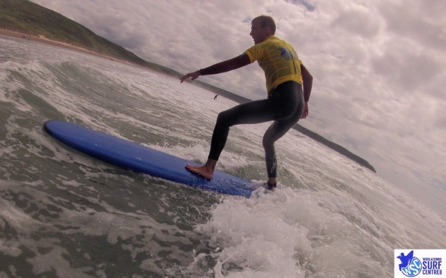 Surfing in Woolacombe
