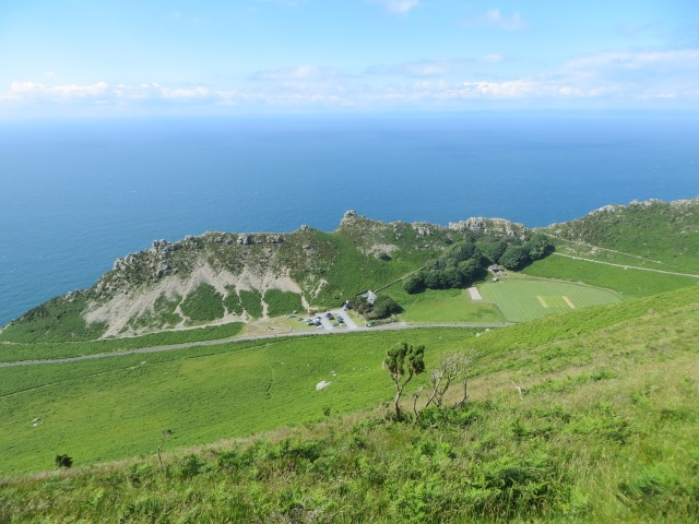 Valley of the Rocks from hill above 2