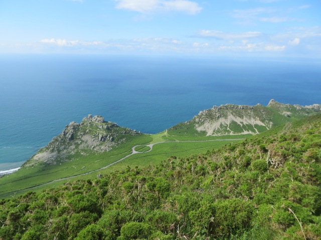 Valley of the Rocks from hill above 3