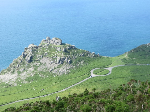 Valley of the Rocks from hill above
