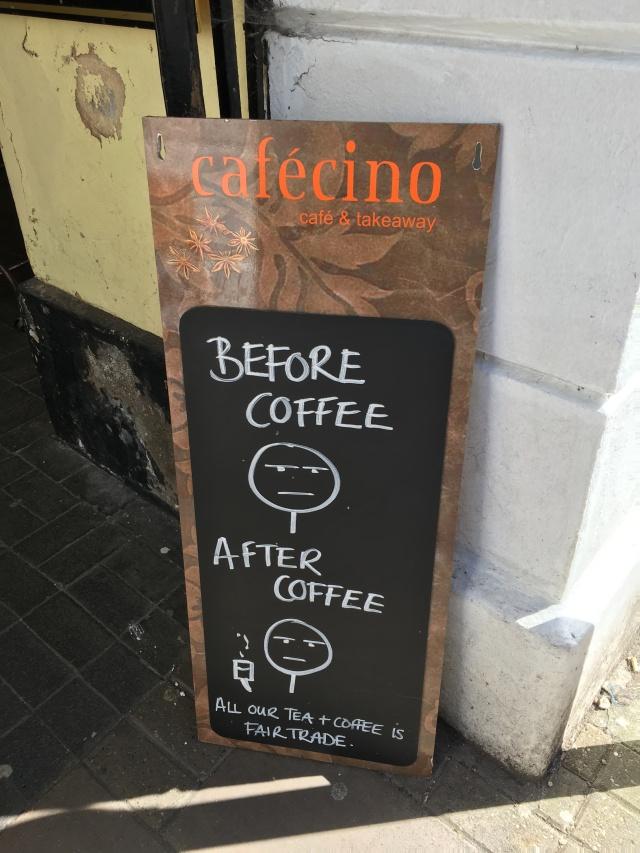 Cafecinos chalkboard