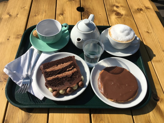 Tea and cake Fremington Quay Cafe