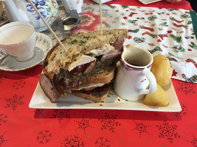 Festive sandwich from Tea by the Taw