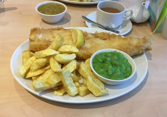 Fish and chips from The Pelican restaurant and takeaway