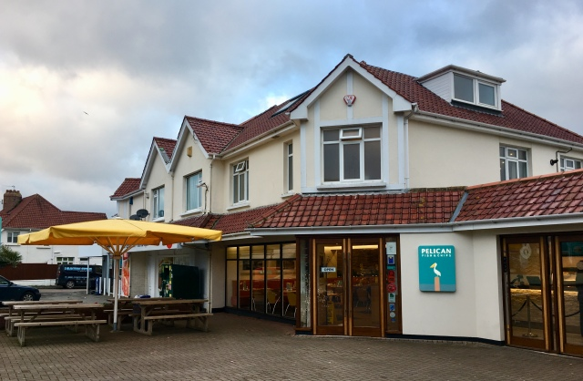 Outside The Pelican fish and chip restaurant and takeaway Barnstaple