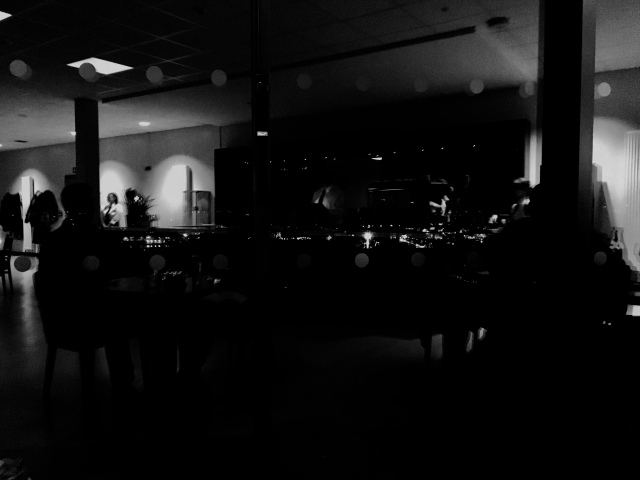 Looking over Barnstaple from The Taw Restaurant at night