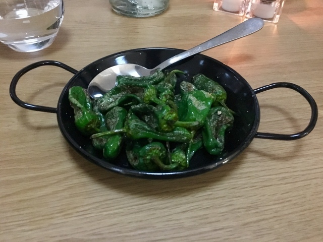 Padron peppers from The Taw Restaurant