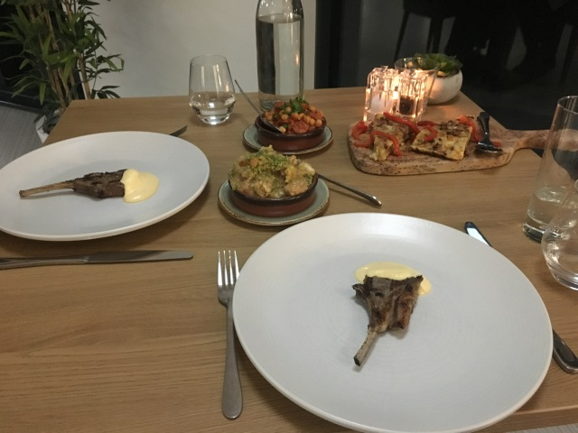 Lamb cutlets and tapas dishes from The Taw Restaurant