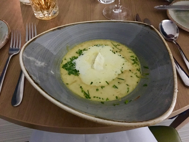 Smoked haddock chowder from The Taw Restaurant