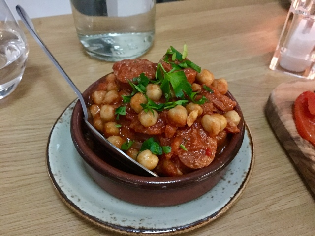 Chickpea and chorizo stew from The Taw Restaurant