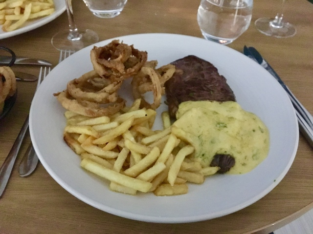 Rib-eye steak and fries from The Taw Restaurant