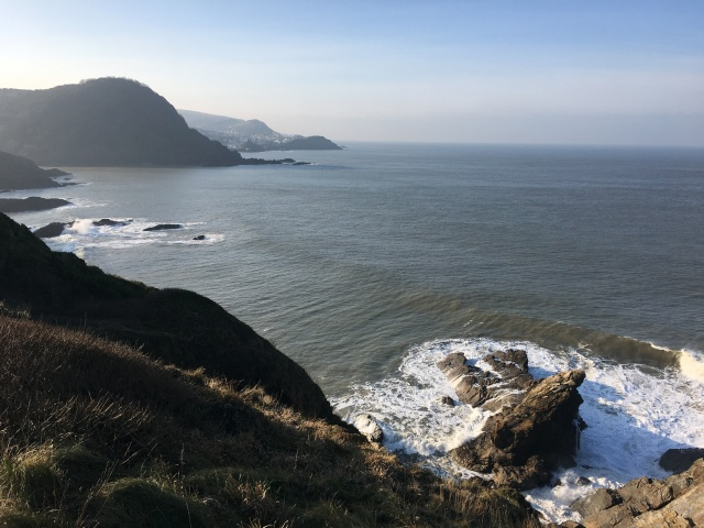 Walking round Rillage Point looking towards Ilfracombe