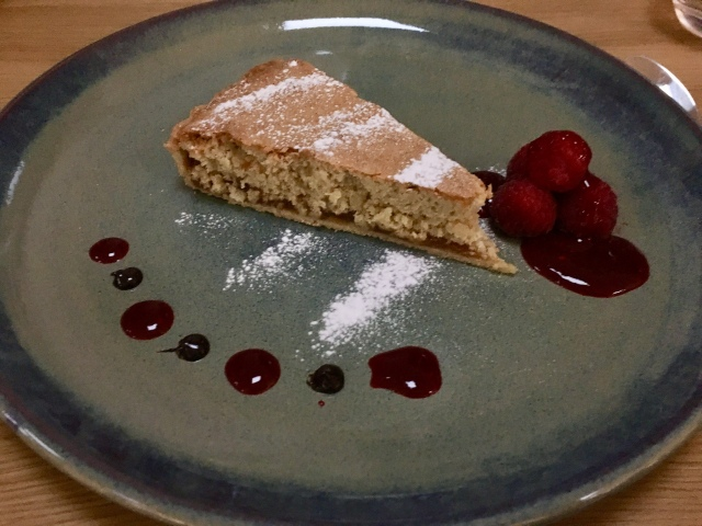 Santiago almond tart from The Taw Restaurant