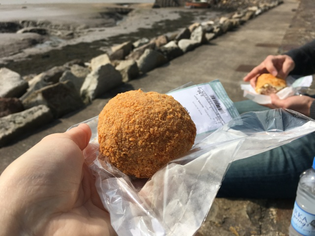 Scotch egg and sausage roll from Johns of Instow
