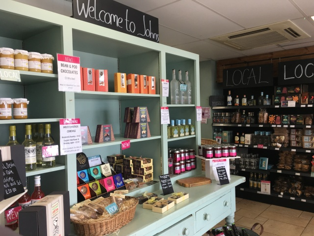 Welcome cupboard in Johns of Instow