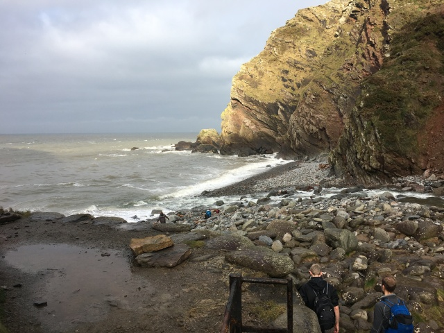 Looking out to sea at Heddon's Mouth