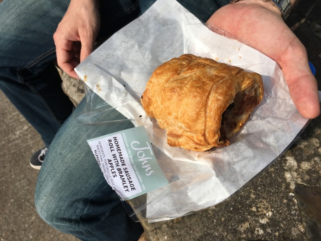 Sausage roll from Johns of Instow