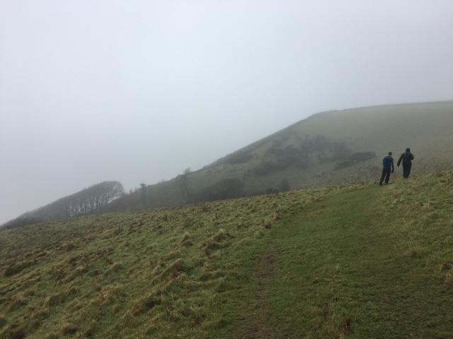 South West Coast Path heading towards Heddon Valley