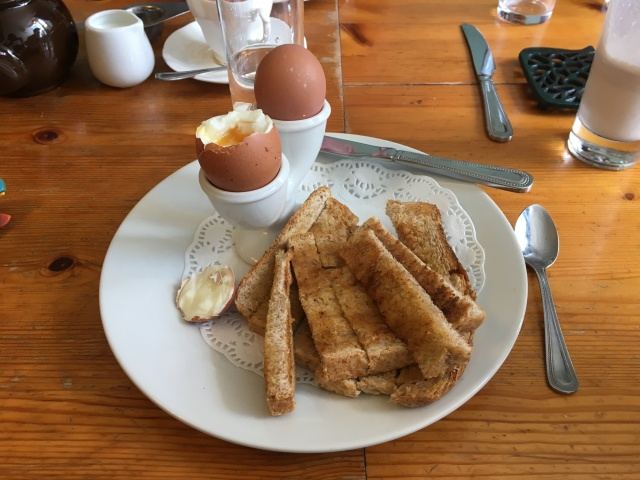 Farmhouse Tea from The Corn Dolly South Molton - egg and soldiers