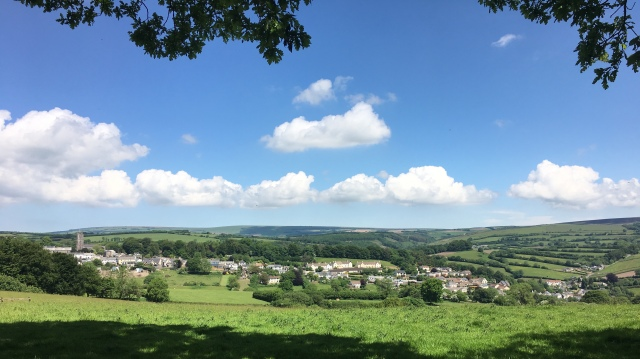 View of North Molton on walk
