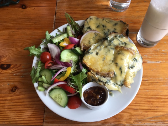 A King's Ransom Stilton on Toasted Teacake from The Corn Dolly South Molton