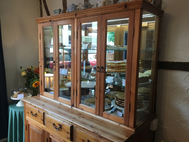 Cake cabinet in The Corn Dolly South Molton