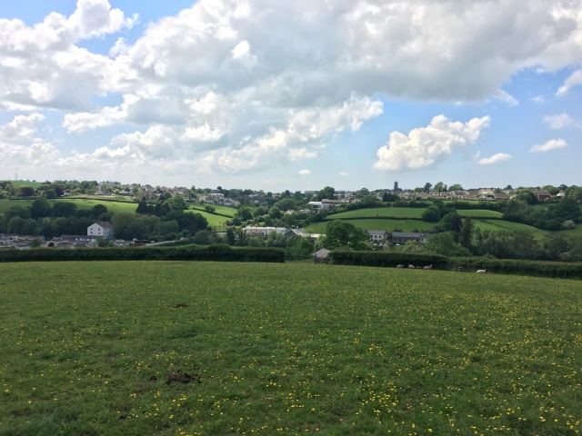 Heading into South Molton on walk