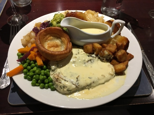 Tarragon chicken with carvery sides from Williams Arms Braunton
