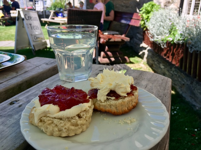 Cream tea the Devon and Cornish way in Mortehoe