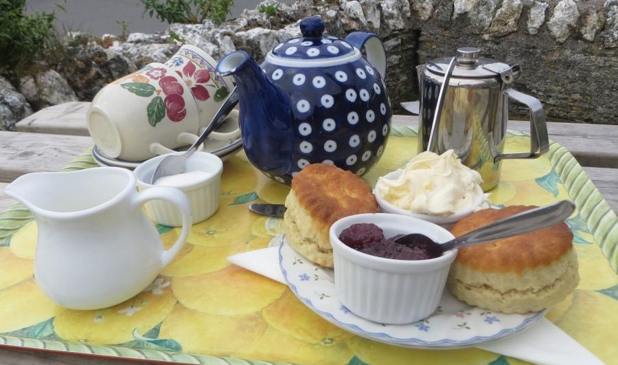 Devon cream tea from the Town Farmhouse in Mortehoe