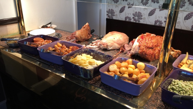 Carvery turkey, beef and pork and roast potatoes from Country Cousins