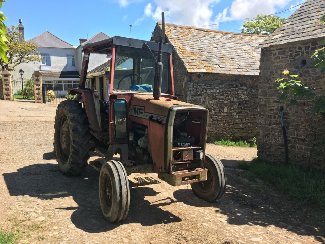 Old tractor at farm near Hartland