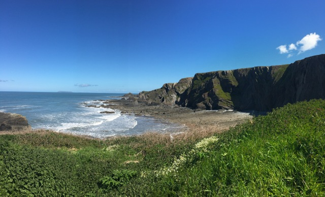View from car park above Hartland Quay