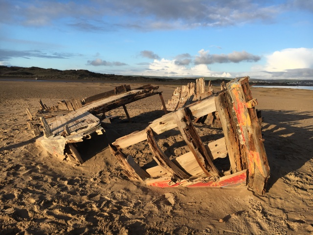 Boat wreck at Crow Point