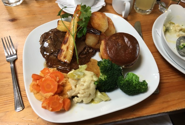 Sunday roast lunch from Fremington Quay Cafe