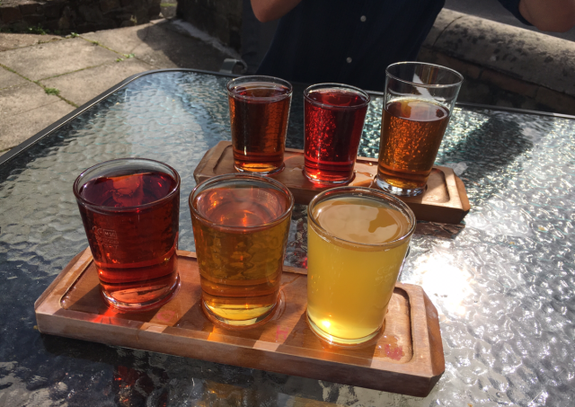 Cider tasting boards from the Cyder Presse