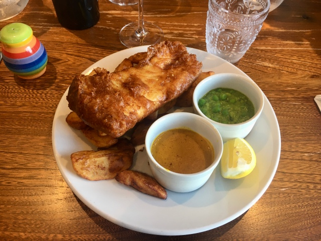 Fish and chips from the Royal George Appledore